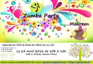 Zumba APE - Affiche Grand Format - Avril2016