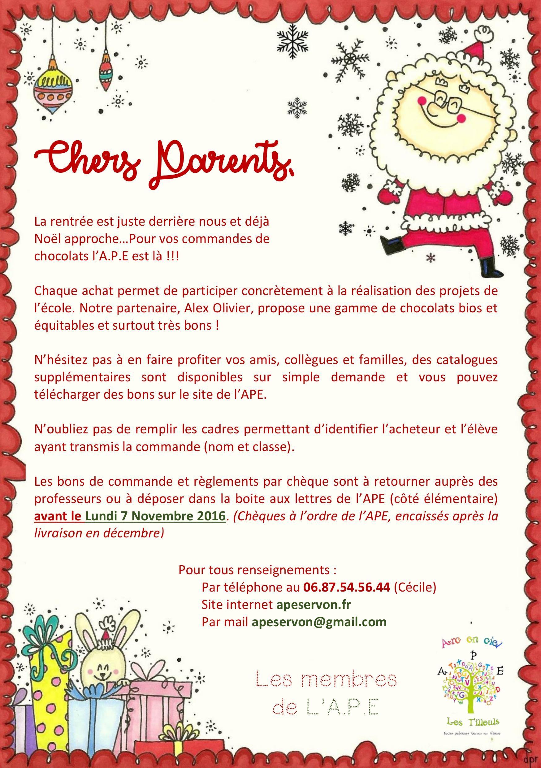 catalogue alex olivier noel 2018 pdf Vente de chocolats Alex Olivier – APE Servon catalogue alex olivier noel 2018 pdf