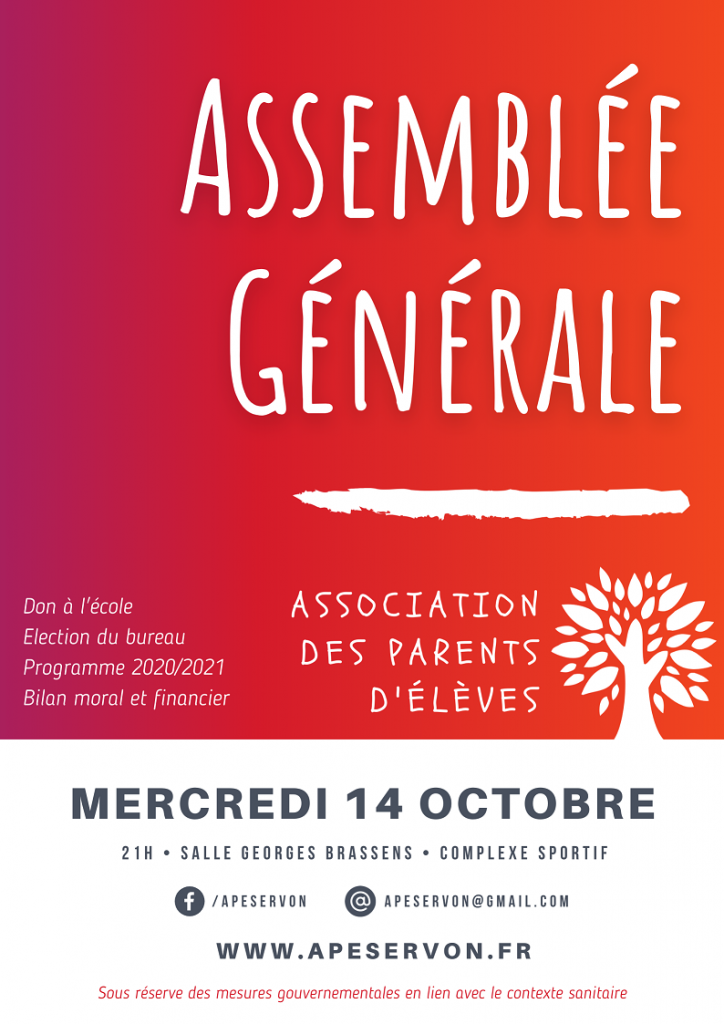Affiche pour l'assemblée générale 2020